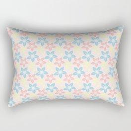 Modern pastel pink coral blue floral illustration Rectangular Pillow