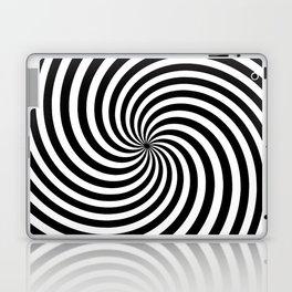 Black And White Op Art Spiral Laptop & iPad Skin