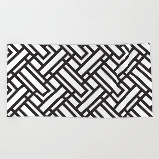 geometric 5 Beach Towel