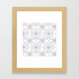 Floral Pattern - JUSTART (c) Framed Art Print