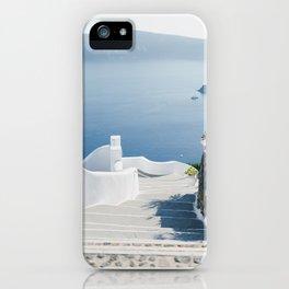 Santorini Stairs I (Vertical) iPhone Case