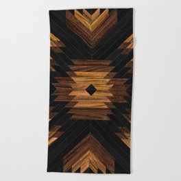 Urban Tribal Pattern 7 - Aztec - Wood Beach Towel
