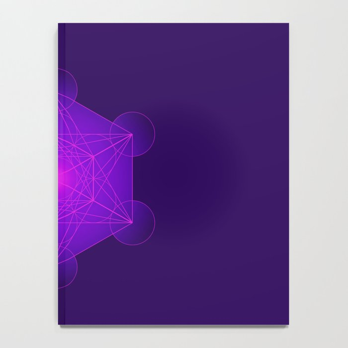 Metatron | Cube | Secret Geometry | Platonic | Matrix | Protects children Notebook