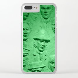 Faces green tint Clear iPhone Case
