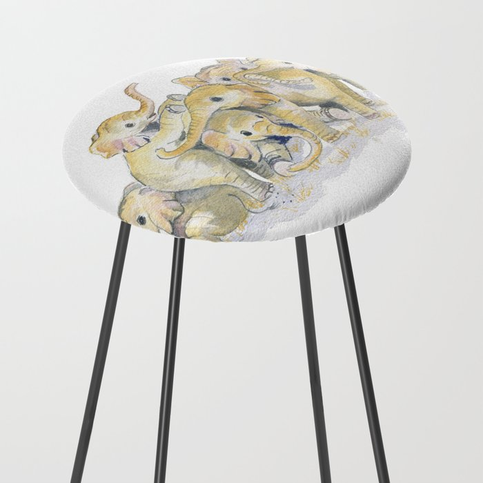 Baby Elephants Counter Stool By Mellyterpening Society6