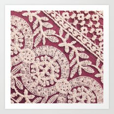 lace on red Art Print