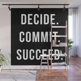 Decide Commit Succeed Motivational Gym Quote Wall Mural