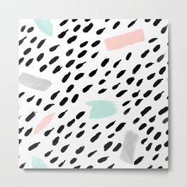 pastel paint splash Metal Print