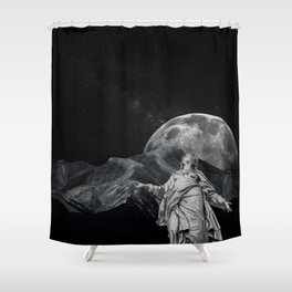 Behold the Sky Shower Curtain