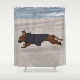 Flying Mabel Shower Curtain