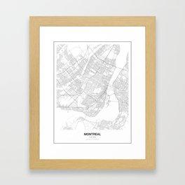 Montreal, Canada Minimalist Map Framed Art Print