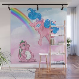 g1 my little pony Firefly and Spike Wall Mural