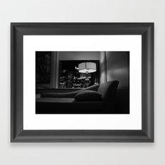 The City Behind Me Framed Art Print