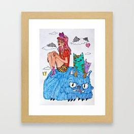 Monsters.  Framed Art Print