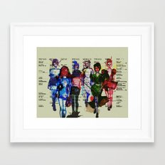 'Fashion is a form of ugliness...' Framed Art Print