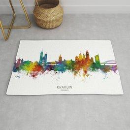 Krakow Poland Skyline Rug