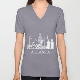 Atlanta Skyline Funny Souvenir Gift Unisex V-Neck