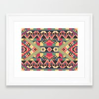 star Framed Art Prints featuring B / O / L / D by Bianca Green