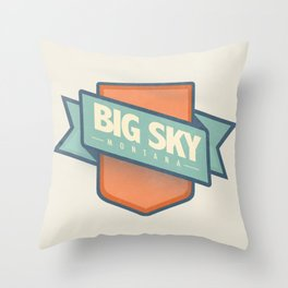 Big Sky, Montana Throw Pillow