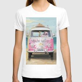 Pug Girly Adventure Peace T-shirt