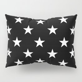 Stars (White/Black) Pillow Sham
