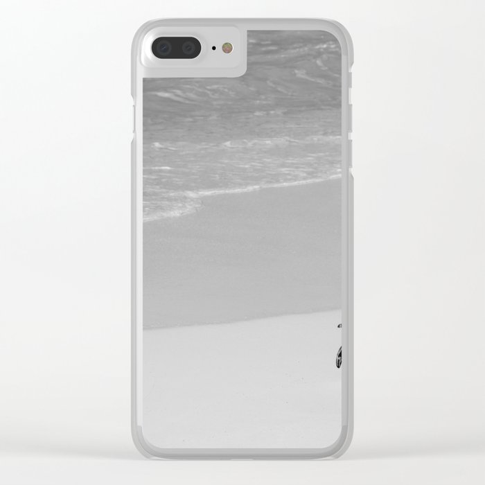 Lone African Penguin walking on beach Clear iPhone Case