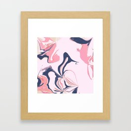 Abstract- Pink and Blue Framed Art Print