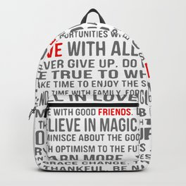 All about life Backpack