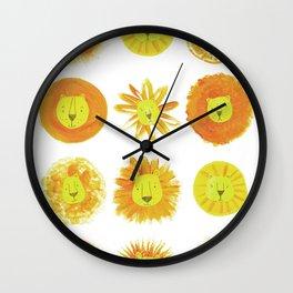 Lion heads Wall Clock