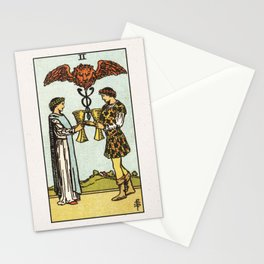 TWO OF CUPS / WHITE Stationery Cards
