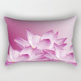 Lotos Flowers Pink Rectangular Pillow