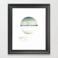 Leave the Shore Framed Art Print