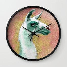 Mint Llama Wall Clock
