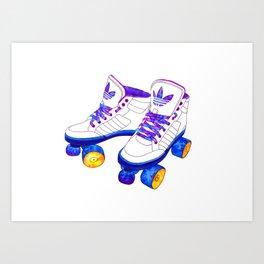 Roller Derby skaters Art Print