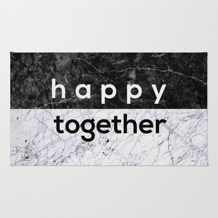 Happy Together Couples Quote Rug