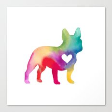 French Bulldog Love Canvas Print