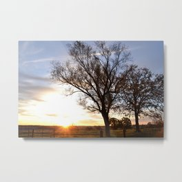 November Morning Sunrise Metal Print