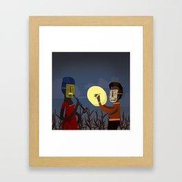 Masked Musicians Framed Art Print