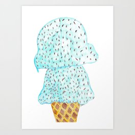ice cream  Art Print