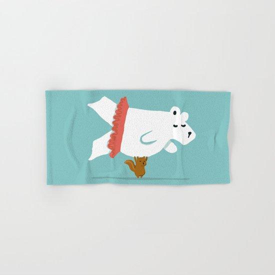 You Lift Me Up - Polar bear doing ballet Hand & Bath Towel
