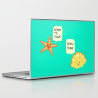 motivational Laptop & iPad Skins featuring Motivational Beach! by AnishaCreations