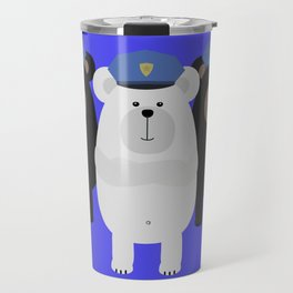 Grizzly Police Officer Travel Mug
