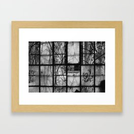 abandoned window Framed Art Print