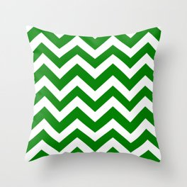 Green (HTML/CSS color) - green color - Zigzag Chevron Pattern Throw Pillow
