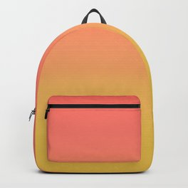 Coral through Gold Ombre Backpack