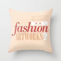 Boobs on fashion. A simple question. Throw Pillow