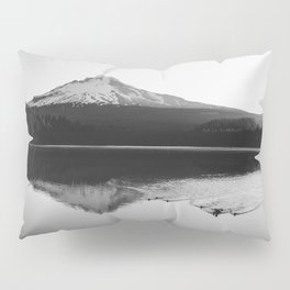 Wild Mountain Sunrise - Black and White Nature Photography Pillow Sham