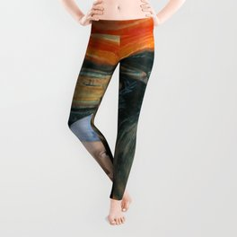 The Scream of Pearl Earring Girl Leggings