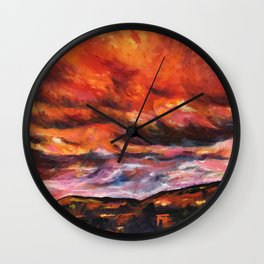 July in New Mexico Wall Clock