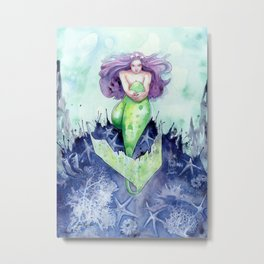 Reef Mermaid Metal Print
